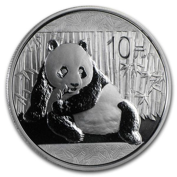 2015 China 1 oz Silver Panda BU (In Capsule)