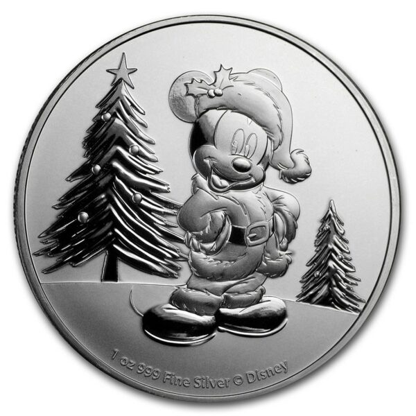 2019 Niue 1 oz Sølv Disney Mickey Mouse Christmas BU