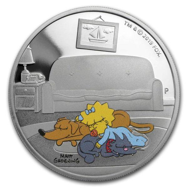 2019 Tuvalu 1 oz Sølv The Simpsons «Maggie» Proof
