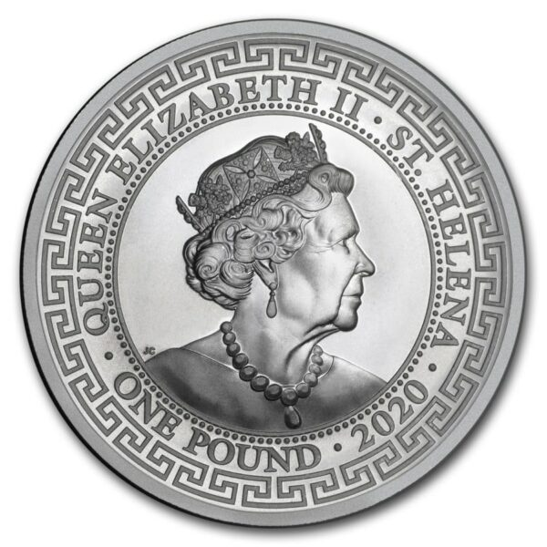 2020 St. Helena 1 oz Sølv Japanese Trade Dollar BU