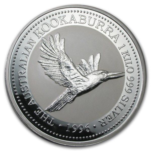 1996 Australia 1 kilo Sølv Kookaburra BU m/Kapsel & Etui