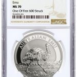2018 Australia 1 oz Sølv «Emu» NGC MS70 «One of the first 600 struck»
