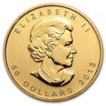 2013 Kanada 1 oz Gold Maple Leaf BU