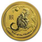 2016 Australia 2 oz Gold Lunar Monkey BU