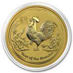 2017 Australia 2 oz Gold Lunar Rooster BU kapsel