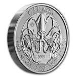 2020 Canada 2 oz Silver Creatures of the North Kraken profil