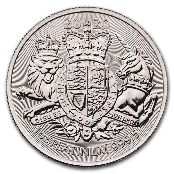 2020 Great Britain 1 oz Platinum The Royal Arms BU