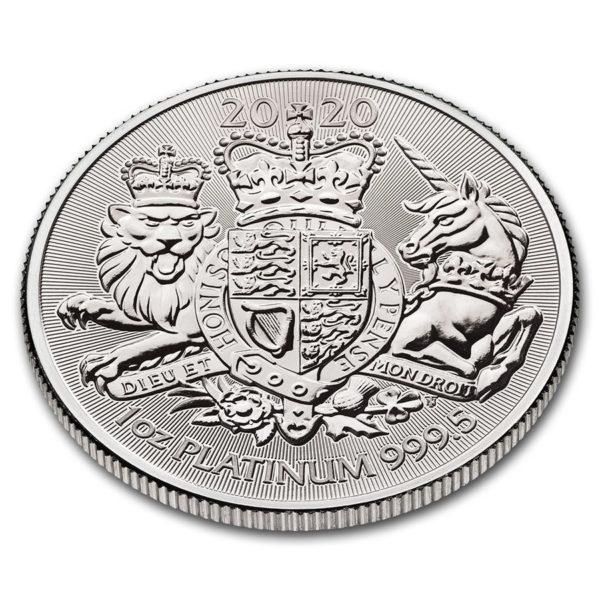 2020 Great Britain 1 oz Platinum The Royal Arms BU profil
