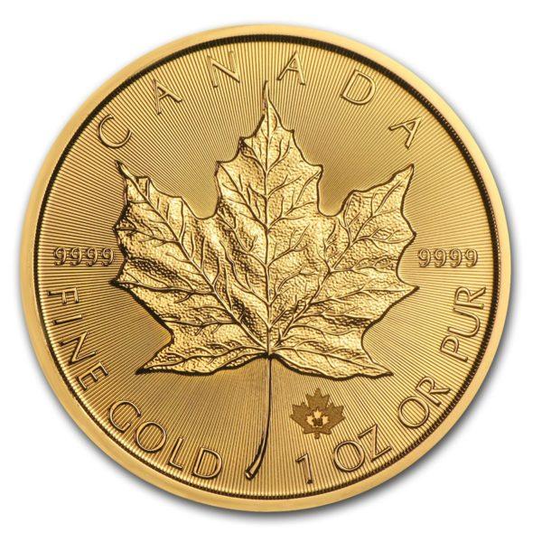 2016 Kanada 1 oz Gold Maple Leaf BU M Kapsel