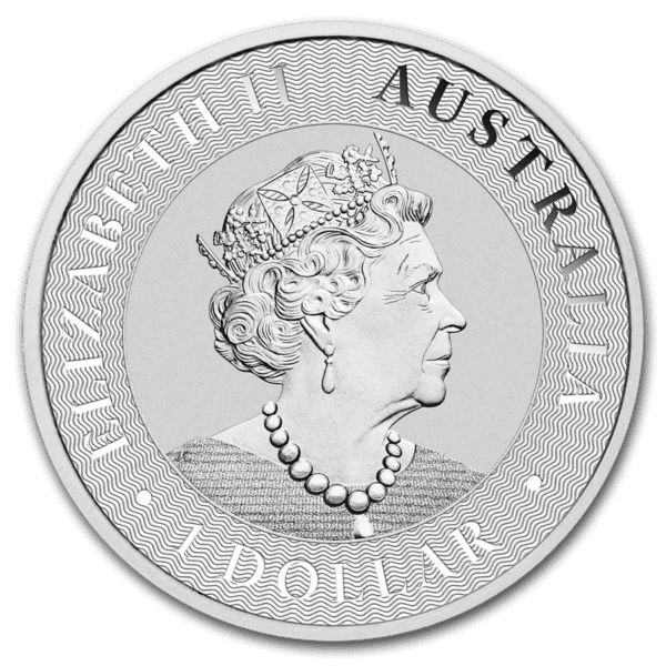 2020 Australia 1 oz Sølv Kangaroo BU i Tube «Forseglet» (25 oz)