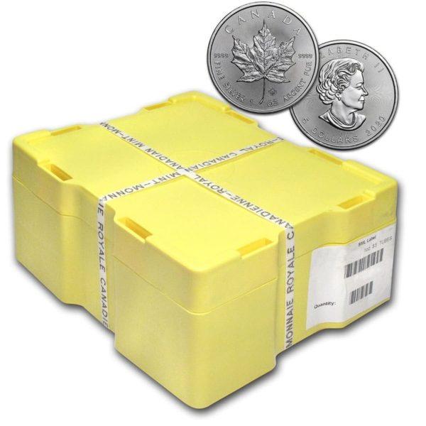 2020 Kanada Silver Maple Leaf 500 x 1 oz Monster Box BU