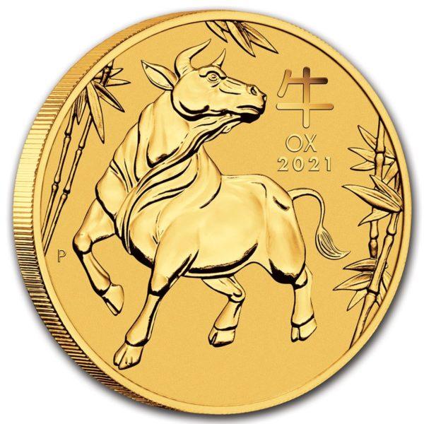 2021 Australia 1 oz Gull Lunar S3 «Year of the Ox» BU M/Kapsel