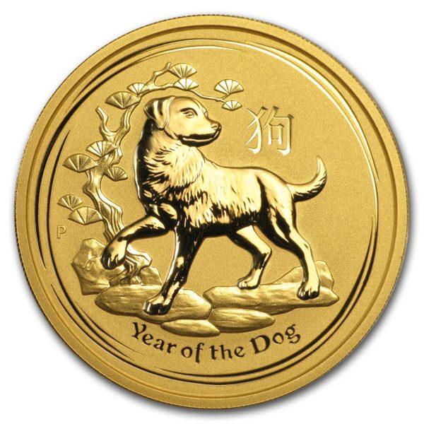 2018 Australia 2 oz Gull Lunar S2 «Year of the Dog» BU M/Kapsel