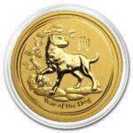 2018 Australia 2 oz Gold Lunar Dog BU kapsel