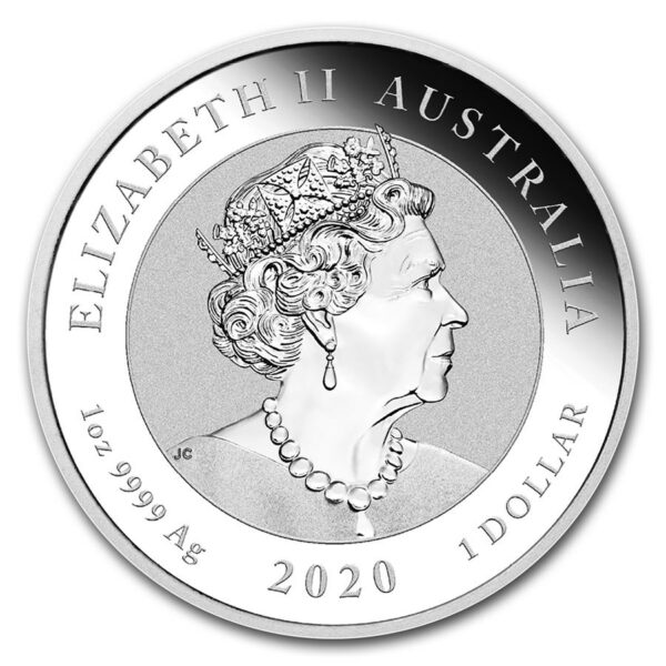 2020 Australia 1 oz Sølv Quokka BU M/Kapsel