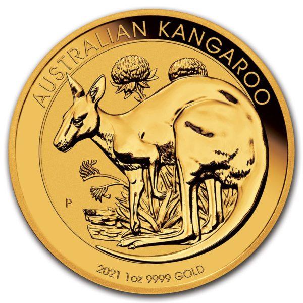 2021 Australia 1 oz Gull Kangaroo BU M/Kapsel