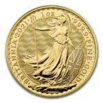 2021 Storbritannia 1 oz Gull Britannia BU M/Kapsel