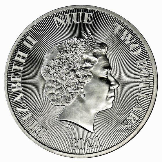 2021 Niue 1 oz Sølv «Roaring Lion» BU