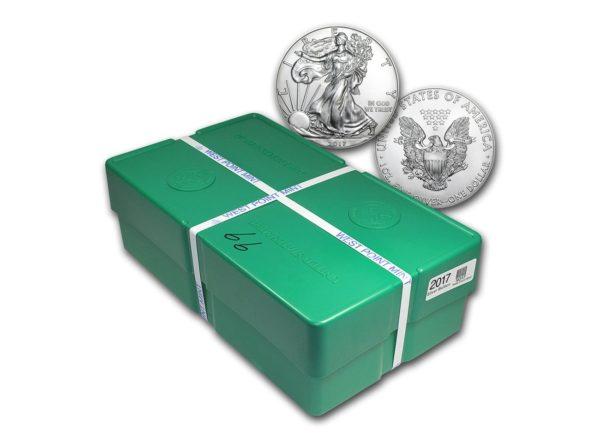 2017 USA American Silver Eagle 500 x 1 oz Monster Box «På Lager»