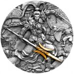 2020 Niue 2 oz sølv «Ancient Chinese Warriors – Lyu Bu» High Relief Antikk