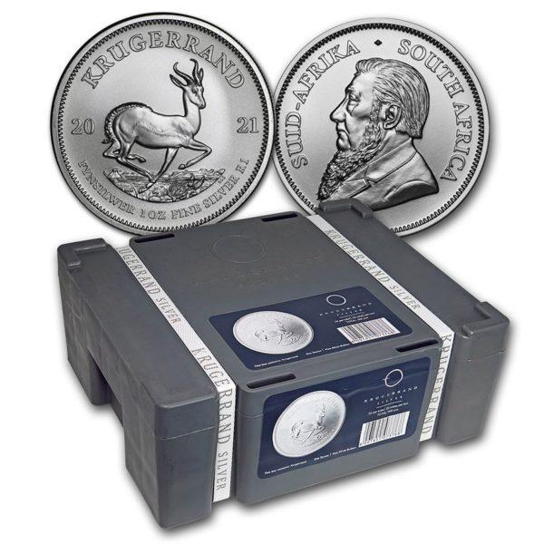 2021 Sør Afrika Sølv Krugerrand 500 x 1 oz Monster Box «Bestillingsvare»