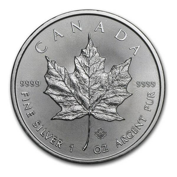 2021 Kanada 1 oz Sølv Maple Leaf BU
