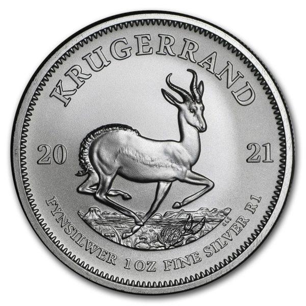2021 Sør-Afrika 1 oz Sølvmynt «Krugerrand» BU