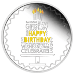 2021 Australia 1 oz Sølv «Happy Birthday» Proof (Gratulasjonskort)