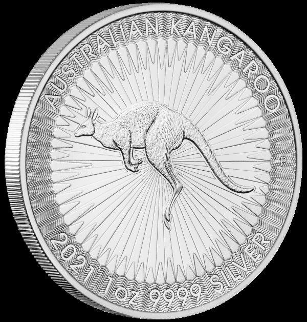2021 australia 1 oz sølv kangaroo bu
