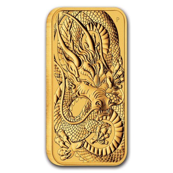 2021 Australia 1 oz Gull Dragon Coin Bar BU M/Kapsel «Forhåndssalg»