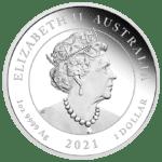2021 Australia 1 oz Sølv One Love Proof Etui & COA
