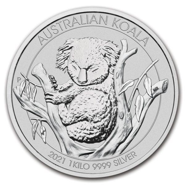 2021 Australia 1 Kilo Sølv Koala BU M/Kapsel