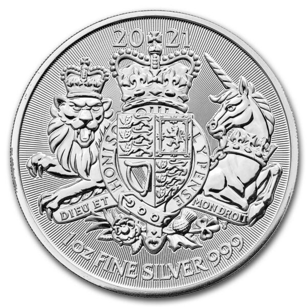 2021 Storbritannia 1 oz Sølv «The Royal Arms» BU