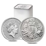 2021 Storbritannia 1 oz Sølv «The Royal Arms» BU i Tube (25 oz)