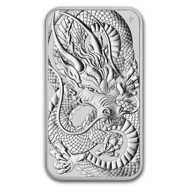 2021 Australia 1 oz Sølv Dragon Coin Bar BU