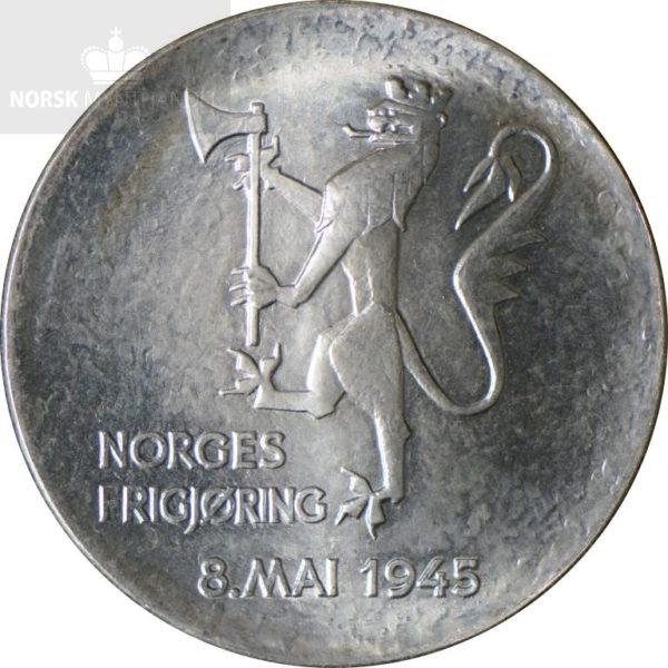 1980 200 kroner Sølvmynt Frigjøringen 35 år Usirkulert