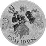 2021 Tuvalu 1 oz Sølv «Gods of Olympus – Poseidon» BU M/Kapsel